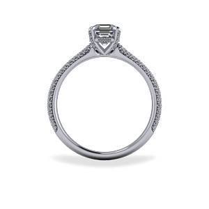 Custom made diamond encrusted solitaire
