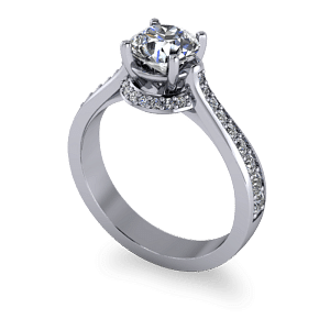 Illusion halo diamond ring