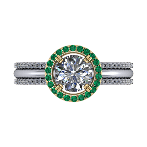Halo multistrand engagement ring