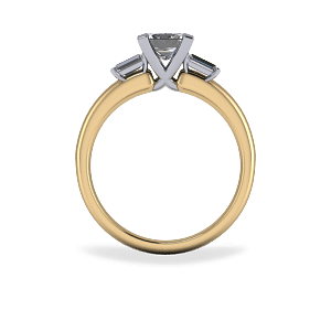 Three stone cross over diamond ring