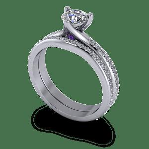 Shaped diamond wedding band