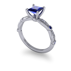 Sculptured sapphire ring