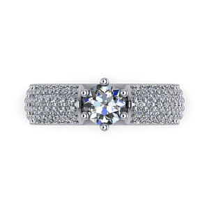 Six claw pave eternity ring