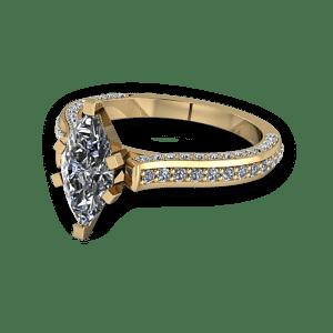 Diamond encrusted marquise