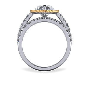 Scallop edge wedding band