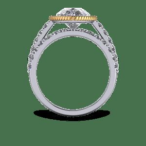 Scallop edge wedding band