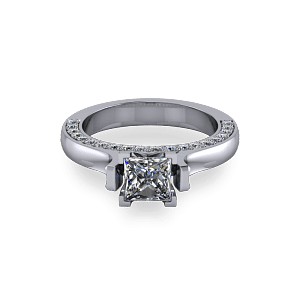 Modern catherdral set princess cut