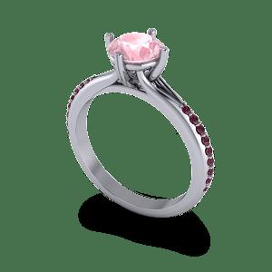 Garnet and morganite ring
