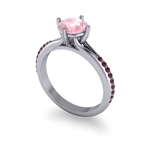 Garnet and morganite ring