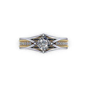 architectural two tone ring