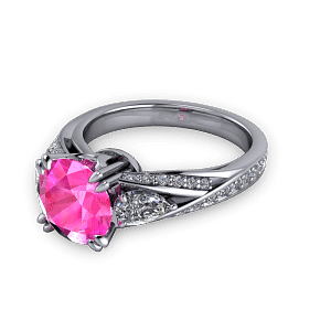 Double claw cocktail ring