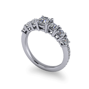 seven stone eternity ring