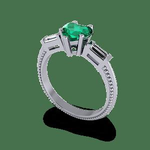 heart shaped eternity ring