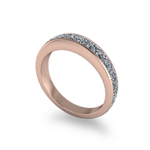 14kt rose gold channel set ring