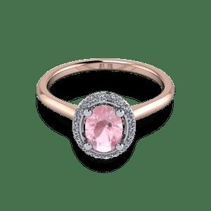Morganite halo ring