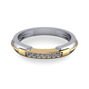 mixed metal eternity ring