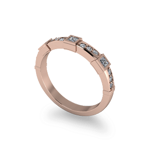 Sculptured eternity band