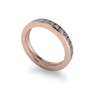 Full channel set eternity ring
