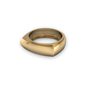 18kt yellow gold signet ring