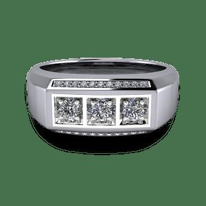 diamond encrusted wedding band