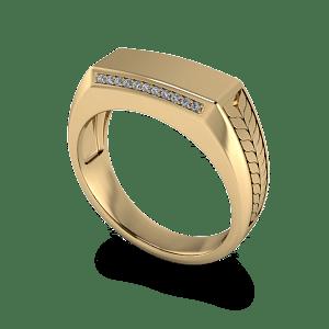 Wheat patterned wedding band