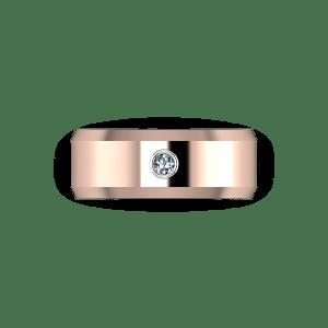 bezel set diamond band