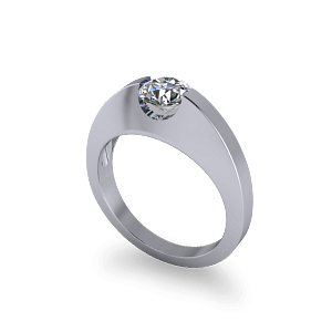 suspension set diamond ring