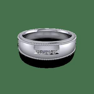 Tapered diamond band