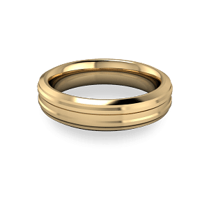 sculptured wedding band