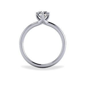 Contemporary three claw diamond ring