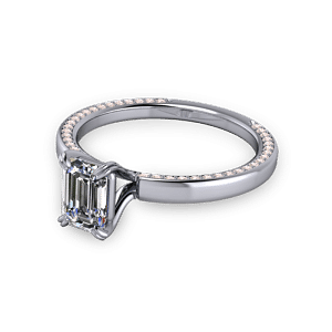 double claw emerald ring