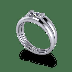 Moissanite commitment ring