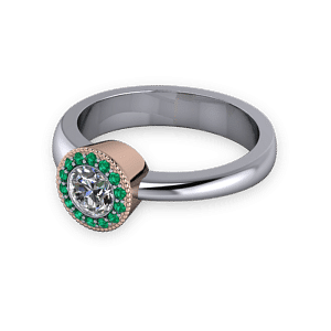 Aysmmetric two tone ring