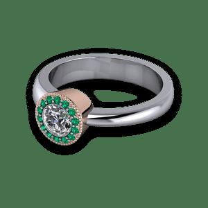 Aysmmetric two tone ring