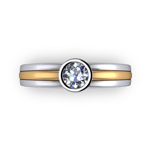 Two-tone-bezel-set-solitaire