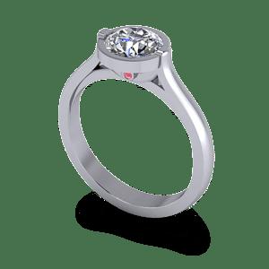 Engagement ring with peak stone
