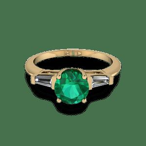 Art deco gold ring