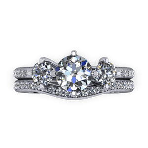 Platinum classic trilogy ring set