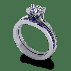 Matching sapphire wedding band
