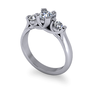 bold 3 stone commitment ring