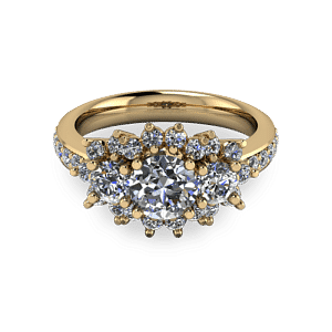 Gold trilogy halo ring