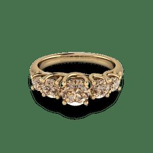 Organic Gold cognac diamond eternity ring