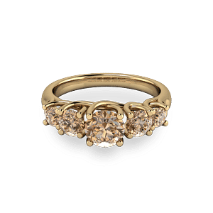 Organic Gold cognac diamond eternity ring