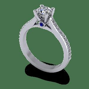 Four claw round with sapphire peak stone