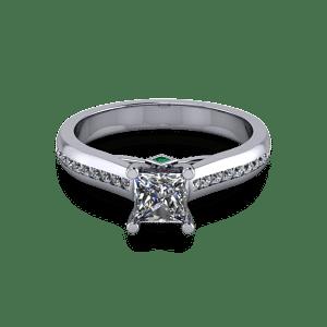Chunky princess cut diamond ring