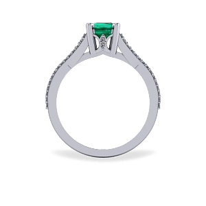 Emerald encrusted ascher cut
