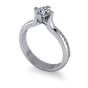 Elevated custom diamond ring
