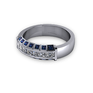 lexandrite and diamond ring
