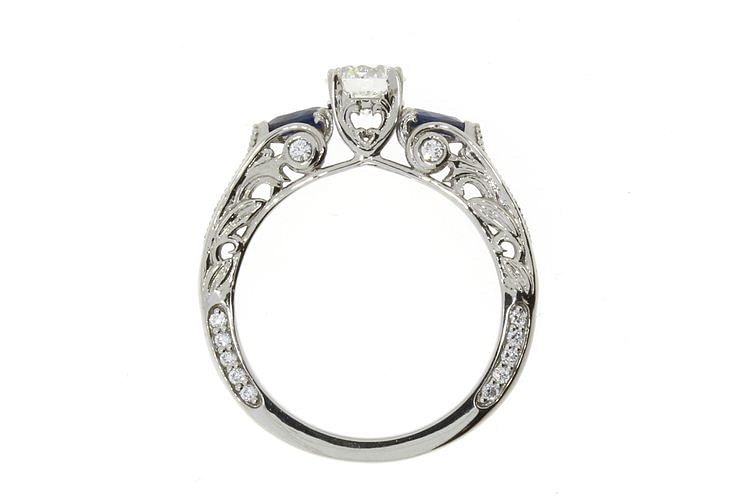 Organic+platinum+and+diamond+engagement+ring