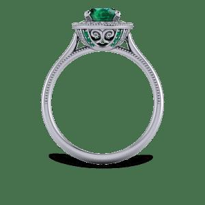 Floral, halo, emerald